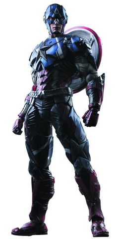 Square Enix Play Arts Kai Action Figure Marvel Comics Variant Captain America