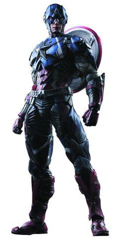 Square Enix Play Arts Kai Action Figure Marvel Comics Variant Captain America