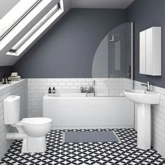 On a budget? Small Bathroom Renovations - KUKUN - small bathroom tiles [simple decoration ideas, interior design, home design, decoration, decoration - Small Bathroom Tiles, Small Bathroom Renovations, Loft Bathroom, Ensuite Bathrooms, Bathroom Colors, Bathroom Interior, Bathroom Ideas, White Bathroom, Master Bathroom