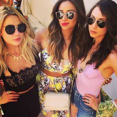 Pin for Later: Stars Share Their Behind-the-Scenes Coachella Snaps  Ashley Benson, Shay Mitchell, and Troian Bellisario from Pretty Little Liars met up at the festival. Source: Instagram user itsashbenzo