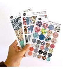 Design comma-B Deco vintage adhesive sticker ver.3 - fallindesign