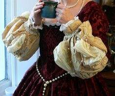 red tudor gown cuffs by ~Abigial709b on deviantART