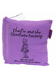 Roald Dahl - Charlie and the Chocolate Factory Book Cushion (Cushions). Roald Dahl - Charlie and the Chocolate Factory Book Cushion A fabulous cushion in a design of a book