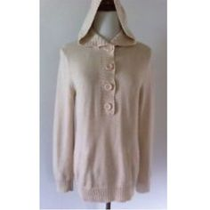"""Eight Eight Eight Sz L Tan Button Sweater Hoodie Eight Eight Eight Sz L Tan Button Sweater Hoodie. Excellent used condition, very comfortable!!  length 26"""" Bust 38-40 Sleeve Length 24"""" 100% cotton Eight Eight Eight Sweaters"""