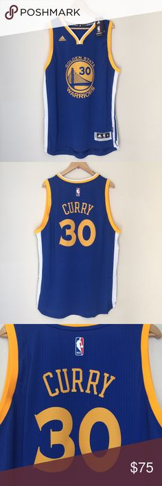 Adidas Steph Curry Swingman Jersey #30 Adidas Golden State Warriors Authentic Swingman Steph Curry Road Game Jersey | Brand new with tags | 100% Authentic SWINGMAN (not replica) | $76.99 on NBAstore.com | Soon to be a collectors item once Nike releases the 17-18 jerseys adidas Shirts Tank Tops