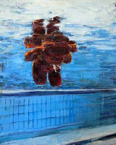 "Saatchi Art Artist HYUNJU KIM; Painting, ""Reflection (in water)"" #art"