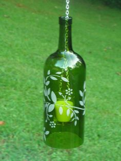 Want to do this with one of my blue wine bottles.