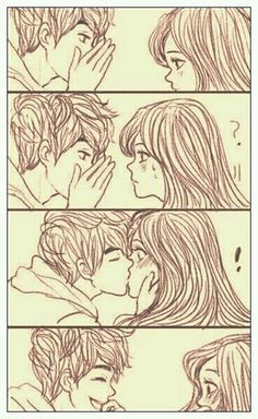 Anime Drawing Ideas cute couple sketch More - Share with your friends. Croquis Couple, Cute Couple Sketches, Love Drawings Couple, Couple Kiss Drawing, Cute Comics, Cute Anime Couples, Anime Couples Cuddling, Couple Art, Manga Couple