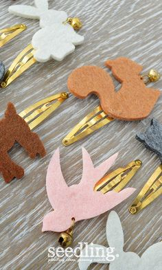 DIY Felt Animal Hair Barrettes