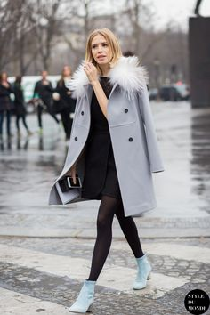 Elena Perminova Street Style Street Fashion Streetsnaps by STYLEDUMONDE Street Style Fashion Blog