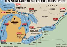Never mind sailing the seven seas -- here's your chance to cruise the five Great Lakes.  Ann Arbor-based Great Lakes Cruise Co. has added three cruises between Chicago and Montreal that hit Windsor-Detroit, Mackinac Island and Sault Ste. Marie, among other stops.