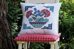 Designed and stitched by Filiz Türkocağı Cross Stitching, Cross Stitch Embroidery, Embroidery Patterns, Cross Stitch Patterns, Pin Cushions, Pillows, Cross Stitch Pillow, Diy Crochet, Hobbies And Crafts