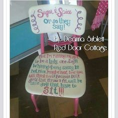Cute time out chair for girls