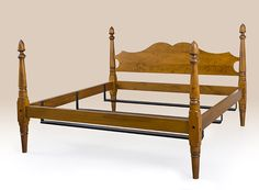 Historical Beekman Acorn Bed made out of Tiger Maple Wood.