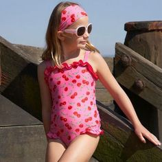 1af192a6d0 Mitty James Children's Girls Swimwear Swimsuit Swimming Costume – Cherry  Strappy