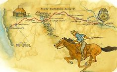 The first westbound Pony Express mail service took 10 days and more than miles from Missouri to California all on horseback in It was the most direct means of east-west communication before the telegraph was established. Paris Country, Country Maps, Fort Laramie, Express Gifts, Pony Express, Today In History, Le Far West, Mountain Man, The Life
