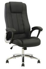 Computer Desk Office Chair PU BLACK LEATHER 360 Degree Swivel NEW! #16