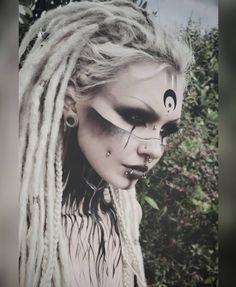 Back to outdoor pics and warrior vibes 👀🌱. Moon sticker by… Roots 🌲. Back to outdoor pics and warrior vibes 👀🌱. Moon sticker by ❤ Outdoor Pics, Krieger Make-up, Viking Makeup, Witchy Makeup, Warrior Makeup, Makeup Art, Hair Makeup, Tribal Makeup, Halloween Makeup Looks
