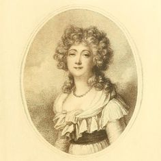 An engraving of Madame du Barry, after a portrait by Richard Cosway. 1791. This was the last portrait that Madame du Barry sat for.  source: Madame du Barry by Hugh Williams