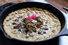 Peanut Butter Skillet Cookie Sundae Recipe by How Sweet It Is