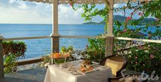 Sandals Halcyon Beach Private Dining, St. Lucia