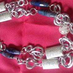 Collana in alluminio e argento tibetano