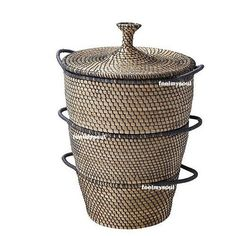 Ikea Handmade Storage Box Basket Organizer Set of 3 Seagrass Brand New
