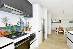 Built in Rangehood with spotlights in it - The Block NZ House 4 | Trade Me Property
