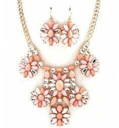Jewel Necklace and Earrings