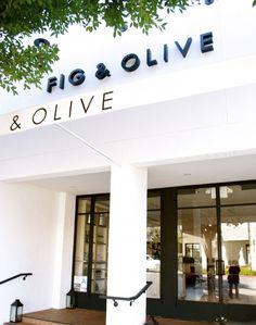 Fig & Olive in West Hollywood. So happy they opened another location in Newport Beach too!