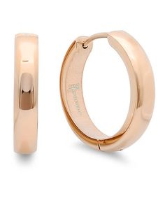 Take a look at this Rose Gold Chunky Hoop Earrings by HMY Jewelry on #zulily today!