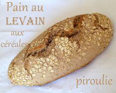 J'ai toujours beaucoup aimé le pain au levain. C'est LE PAIN IDEAL aussi bien d'un point de vue gustatif que nutritif.- La fermentation au... Challah, Pain Au Levain, Kosher Recipes, Nutrition, Bread, Baking, Healthy, Ethnic Recipes, Sweet