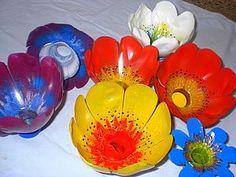 цветы из горлышка бутылки своими руками