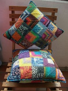 Image result for modular knitting mitered squares