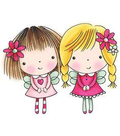 CAFÔFU - ATELIÊ DE ARTE: E AÍ, O QUE TEM DE BOM? - PRINTABLES FOFOS Girl Cartoon, Cute Cartoon, Cute Images, Cute Pictures, Penny Black Karten, Penny Black Stamps, Digi Stamps, Cute Illustration, Black Rubber