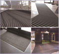 Fashionable thick aluminum frame belgium carpet office entrance mats