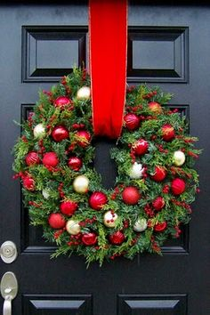 Fabulous Christmas Pine Wreath...filled with ornaments and berries...House of Hydrangeas.