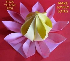 DIY Origami : How to Make Lovely Paper Origami Lotus