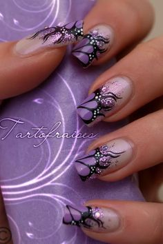 Butterfly nails this is me all day.