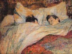 A letto, 1892, olio su carta, Henri de Toulouse-Lautrec. Collezione privata.