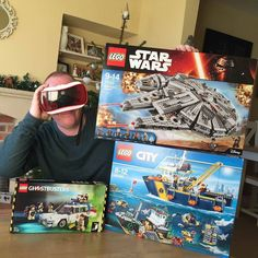 An awesome Virtual Reality pic! So now Christmas is all done and dusted food eaten alcohol downed it's time to look at this year's haul... Didn't I do well  a big thank you to @loulag @roygvic @gardnerjason and @pillowfluffer65 #shotoftheday #legostarwars #legoghostbusters #legocity #googlecardboard #mattel #pic #virtualreality @lego #milleniumfalcon by translucentboy check us out: http://bit.ly/1KyLetq