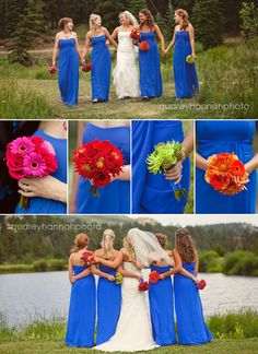 I like the different color bouquets!