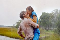 kissing in the rain. The Notebook