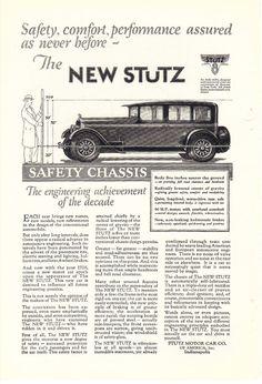 The New Stutz 1926  Motor Car Print ad