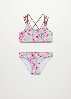 Mode Fille 2021 | Mango Kids France Floral Print Skirt, Floral Prints, Bikinis For Teens, Beach Kids, Fruit Print, Hawaiian Print, Manga, Hibiscus, Kids Usa