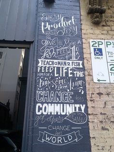 Sunday Found Type by bobsta14, via Flickr #typography #chalkboard