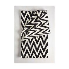 Order (€110) ❤ liked on Polyvore featuring home, bed & bath, bedding, multi, quilt - bedspread, black & white bedding, zig zag bedding, chevron pattern bedding, zigzag bedding and chevron bedding