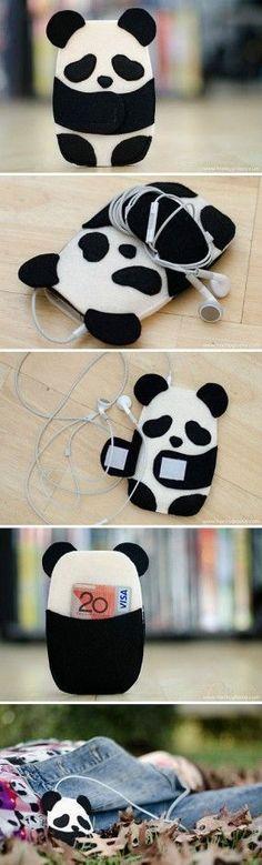 Panda iPod holder awwwww.cute #SmartphoneHolder