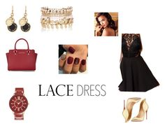 """Lace Dress"" by mckenzieeeeee ❤ liked on Polyvore featuring MICHAEL Michael Kors, Anne Klein, Christian Louboutin, River Island, Marc by Marc Jacobs and Avon"