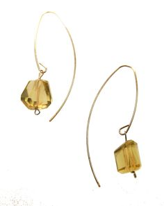 Melissa McArthur Jewellery Lemon Quartz Drop Earing in 22ct Gold Vermeil